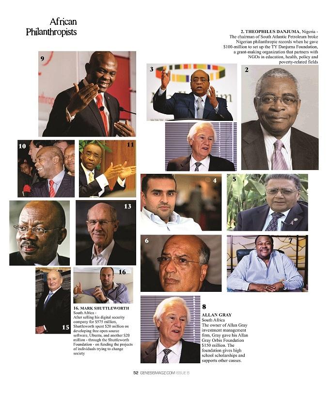 african philanthropists
