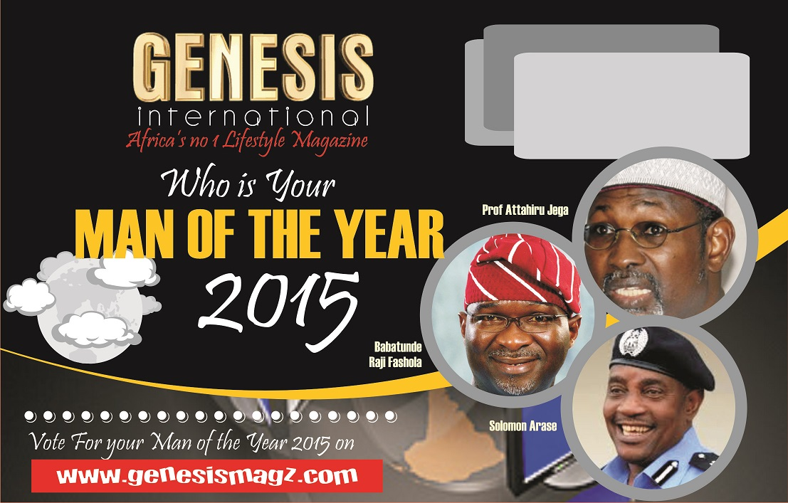 Genesis International Magazine: Man of the Year 2015