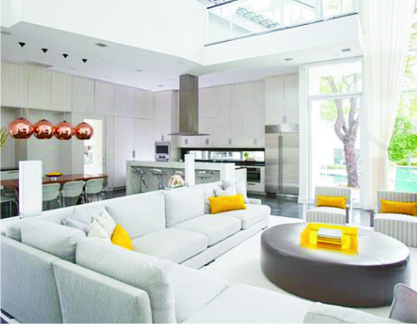 Homes: Illuminate Your Living Room with White Decor
