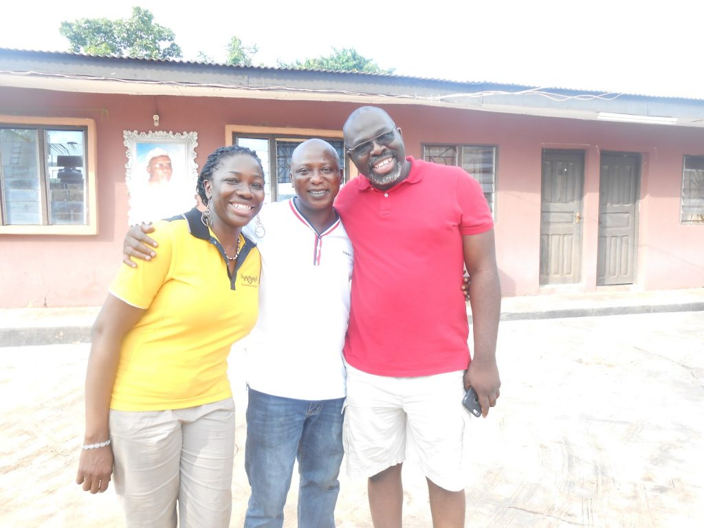 Sunday n Sheri Adeosun of Relume Foundation with yomi Agbabiaka