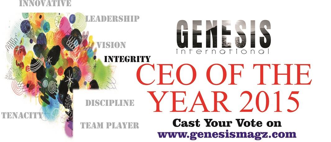 GENESIS INTERNATIONAL Magazine: CEO of the YEAR 2015